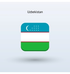 Uzbekistan flag icon vector image