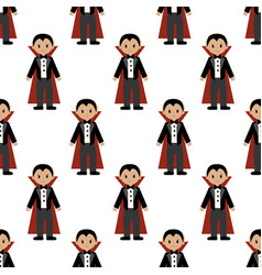 vampire halloween costume pattern vector image