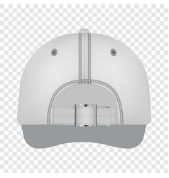 White cap back view mockup realistic style vector