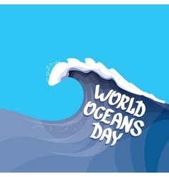 World Oceans Day background vector image