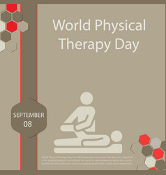 World physical therapy day vector