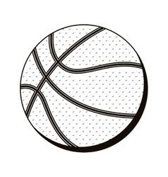 basketball ball in monochrome dots vector image vector image