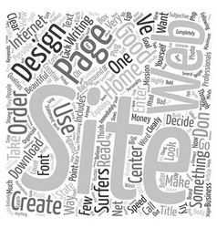 Good Web Site Design text background wordcloud vector image vector image
