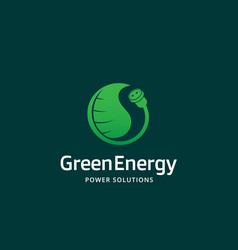 green energy power solutions abstract sign vector image vector image