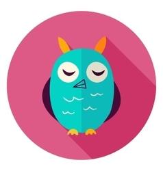 Owl Circle Icon vector image vector image
