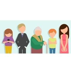 People standing in line vector image vector image