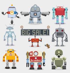 Robot set vector image