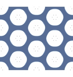 Seamless pattern with apples on the blue vector image