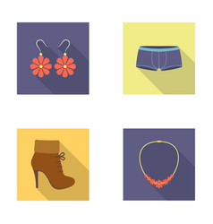 Earrings bijouterie clothes fashion and other vector