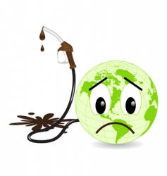 earth pollution vector image vector image