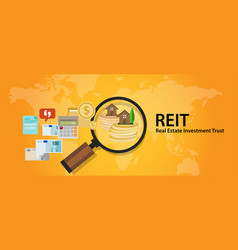 reit real estate investment trust money for home vector image