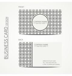 Vintage creative simple monochrome business card vector image vector image