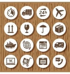 Delivery icons vector image