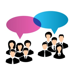 icons of business groups share your opinions vector image vector image