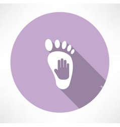 leg and hand print icon vector image