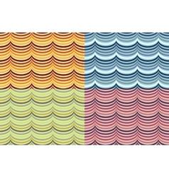 seamless geometrical wavy pattern set vector image vector image
