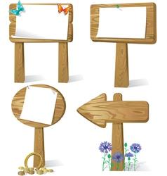 Sign board wood vector image