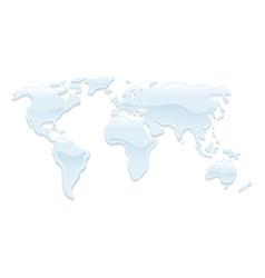 Water world map vector