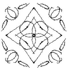 a set of frames with original zigzag ornaments vector image