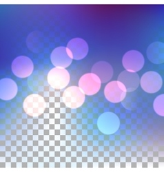 Blue bokeh effect vector image