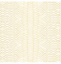 Golden geometric pattern on white background vector