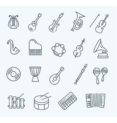 music instruments icons vector image vector image
