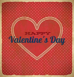 Valentines Day card with polka dots vector image vector image