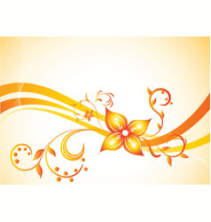vector background with flower vector image