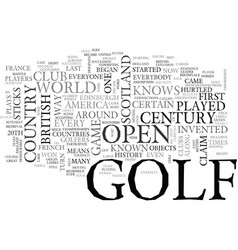 a history of golf text word cloud concept vector image
