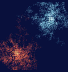 Abstract composition with particles following by vector