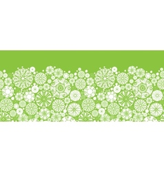 Abstract green and white circles horizontal vector image