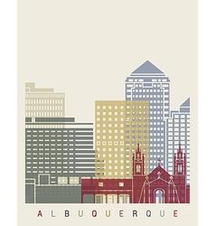 Albuquerque skyline poster vector