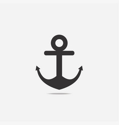 anchor icon with shadow vector image