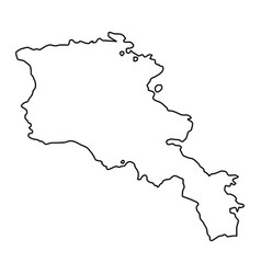 Armenia map of black contour curves on white vector