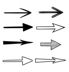 arrows next signs black flat hand drawn icons vector image