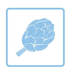 artichoke icon vector image