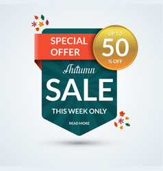 autumn sale and special offer banner vector image