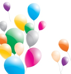 Balloons Balloons on a white background vector image