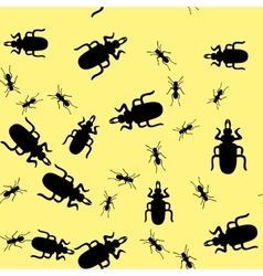 Beetle insect seamless pattern 665 vector image