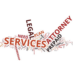 Benefits prepaid attorney services text vector