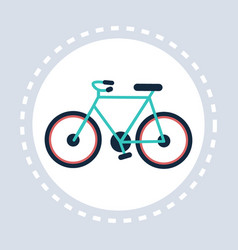 bike icon active healthy lifestyle concept flat vector image