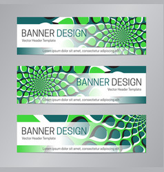 blue green banner design web header template vector image