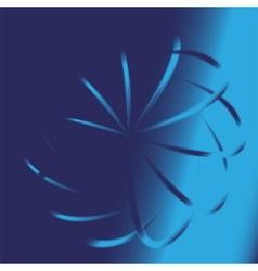 Blue swirl background vector image
