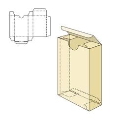 Box Die Line Tamplate vector image