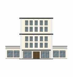 Building type on white background vector