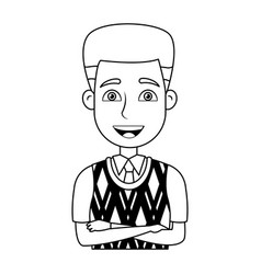 Business man icon portrait employee or vector