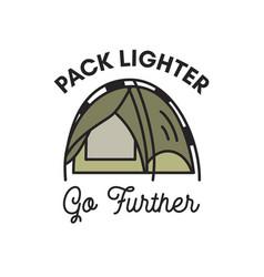 Camping adventure logo emblem design vintage vector