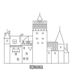Castle dracula romania landmarks vector