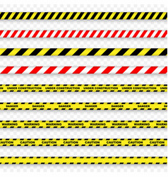 caution and danger stripe vector image