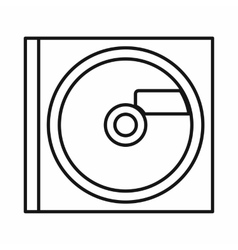 CD icon outline style vector image